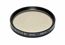Kood 81A Filter Made in Japan 49mm