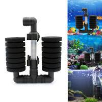 Aquarium Biochemical Sponge Filter Fish Shrimp Tank Air Pump Double Head