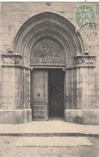 CONDRIEU 553 portail de l'église tibrée 1907