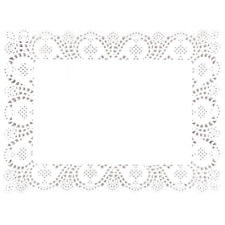250X Paper Doily Rectangular Disposable Commercial Craft Coasters Place Mat