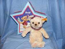 Steiff Christmas Teddy Bear Clara With Star Box Blond 109959  NEW