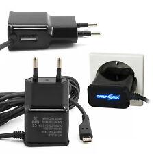 ENERGMiX Cargador Micro USB 2A con extra usb conexión Cable para HTC ONE M8