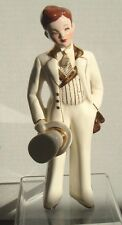 Florence Ceramics David ~  Man Figurine, White - 7 1/2 inches Tall