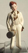 Florence Ceramics David ~  Man Figurine, White - 7 1/2 inches Tall