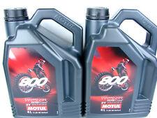 2x 4Liter Motul 800 2T Motoröl Motorradöl Off Road Factory Line 2T Öl 2-Takt
