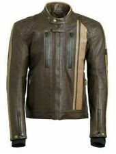Triumph Mens Raven GTX Leather Biker Jacket padded Brown New with tags XLarge XL