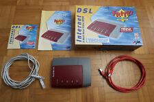 Fritz! Box SL Modem Router + 2 Netzwerkkabel + Anleitung + Treiber CD + OVP