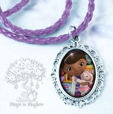 Licensed Disney Doc McStuffins Childs Bead Necklace /& Heart Charm Pendant