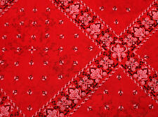 Red Bandana Tissue Paper ~ Western # 531 ~ 10 Large Sheets