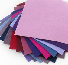 "15 - 9""X12""  Purple Colors Collection - Merino Wool blend Felt Sheets"