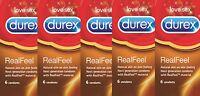 36 Preservativi Durex REAL FEEL ANALLERGICI Senza Lattice no Latex