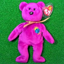 "Ty Beanie Baby 1999 ""Millenium"" Bear With Both Tags Misspelled & Swing Tag Error"