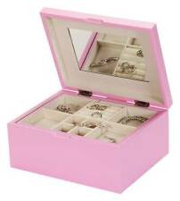 Mele & Co 'Libby' Pastel Pink finish Wooden Jewellery Box (1405)