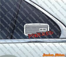 4A-GE Powered sticker for Toyota AE86 Corolla ,MR2 4age 1600 twin cam | classic