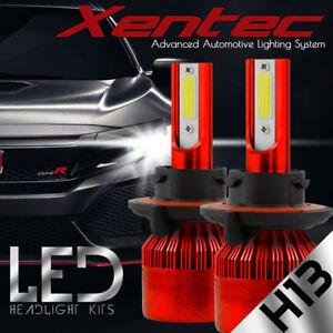 XENTEC H13 9008 LED Headlight Bulbs Kit for Ford F150 High Low Beam 6500K