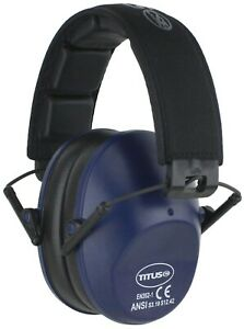 Titus Low Profile Ear Muffs 34 NRR Range Hearing Protection Noise Reduction ANSI