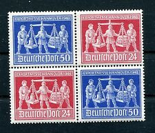 GERMANY 1946 ALLIED OCCUPATION SCOTT 584-585 (585c) PERFECT MNH BLOCK OF 4