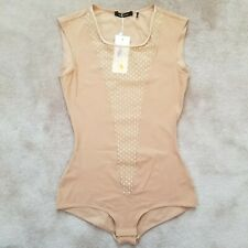 BNWT Isabel Marant Intimates Nude Natural Lace Insert bodysuit XS $563 Farfetch