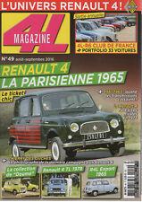 4L MAGAZINE 49 RENAULT 4 LA PARISIENNE R4L EXPORT 1965 R1120 RENAULT 4 TL 1978