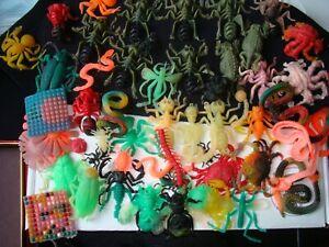 50 plus vintage creepy crawlers thingmaker jiggler rubber monsters lot!