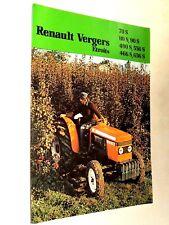 Prospectus Tracteur RENAULT Vergers Etroits  tractor Traktor Trattore Prospekt