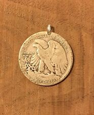 Walking Liberty Half Dollar 90% SILVER Coin Jewelry-PENDANT CHARM Vintage! Eagle