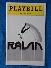 Raisin - 46th Street Theatre Playbill - November 1974 - Virginia Capers - Morton