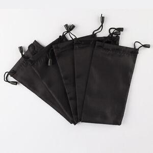 5/10/20X Soft Glasses Case Storage Bag Sunglasses Eyeglasses Pouch Bag BLACK