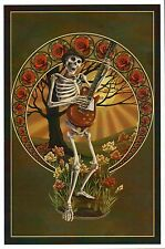 Skeleton and Guitar, Day of the Dead, El Día de Los Muertos --- Modern Postcard