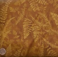 Cabin gold leaves Timeless Treasures fabric