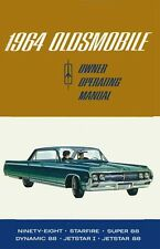 1964 Oldsmobile 98 88 Starfire Jetfire Owners Manual User Guide Book Fuses Fluid