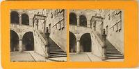 Italia Florence La Cour Del Barghello, Foto Stereo Vintage Analogica PL60L124