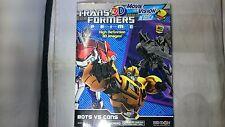 Bendon Transformers Prime Bots Vs Cons Magazine 3D Images w/ 3D Glasses 25PGS