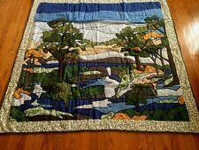 "New Handmade Quilted Appliqué Throw/Wall Hanging 60"" x 60"""