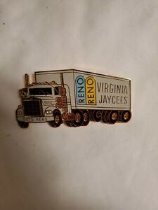 Virginia Jaycees Pin 18 wheeler semi truck Reno