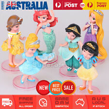 6 Princess Cinderella Mermaid Rapunzel Snow White Cake Topper Fairy Figurine AU