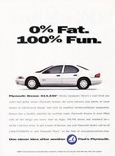 1997 Plymouth Breeze Sedan - Original Advertisement Car Print Ad J313
