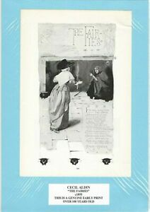 Genuine Antique Print c1895 The Fairies by Cecil Aldin