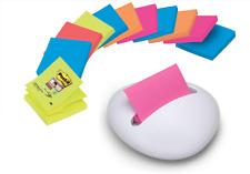 2Pk 400 Notes POST-IT® Desk Grip Pop-Up Z-Notes Dispenser Holds 200 Notes