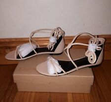 Brand New Next Nude Tube Knot Tie Up Sandals - Size 6