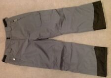 New Boy's Grey Ski Trousers, Age 9 - 10, Crane, Grey/Black Salopettes
