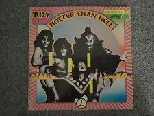 KISS - Hotter Than Hell,1977 UK Press PYE BLACK Vinyl CALD 2007 EX/EX