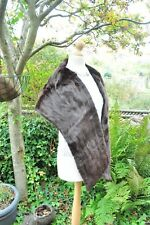 Stunning Authentic Vintage 1950's Chocolate Real Fur Stole Alexander Wilkie VGC