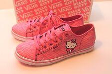 Women's Size 5.5 Azalea Pink Hello Kitty Vans Shoes Ferris Lo Pro Zebra Stripes