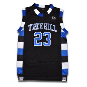 Nathan Scott #23 One Tree Hill Ravens Movie Basketball Jersey All Sewn Black