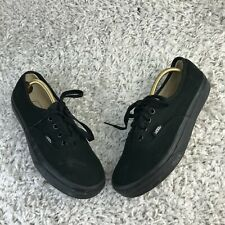 Vans Off the Wall Womens Shoes UK 4.5 Eur 37 Black Canvas Trainers