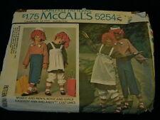 1976 Raggedy ANN & ANDY Boy & Girl Costume Size 2-4 Pattern McCall's #5254  P14