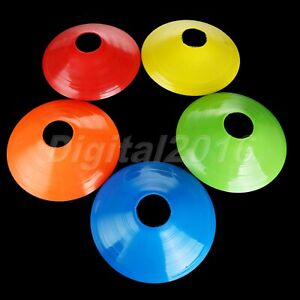1/5pc Outdoor Sport Training Markers Discs Cones Saucer Football Soccer Exercise