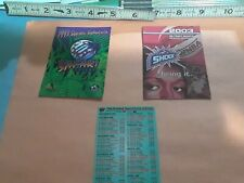 3 Detroit sports SCHEDULES, 1997 Safari,2003 Shock, 1994-95 Pistons/Vipers combo