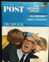 SATURDAY EVENING POST  May 1966 - DR BENJAMIN SPOCK / Batman Craze / Joan Didion